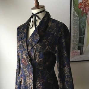🍰 Vintage 1980's Dawn Joy Baroque Floral Jacket